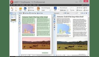 Screen shot of ABBYY FineReader Professional software