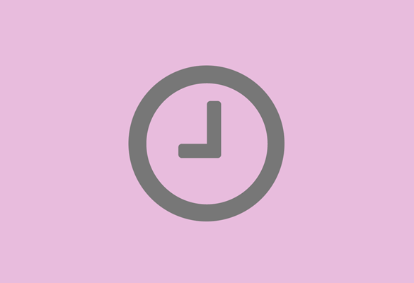 Illustrated clock to demonstrate time saving