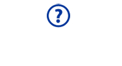 Blue question mark in circle icon