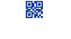 Blue QR code icon