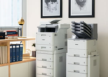 Two Brother printers within an office environment