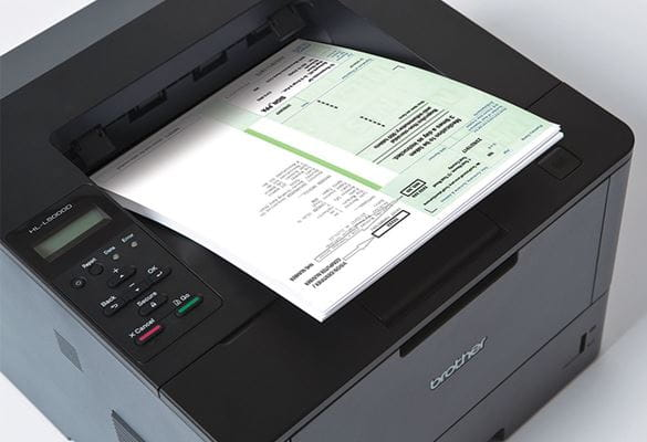 Prescription being printed on Brother HL-L5000D printer