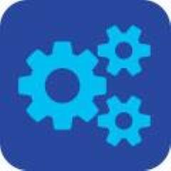 Blue gears icon