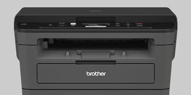 Brother mono laser printer on a light grey background