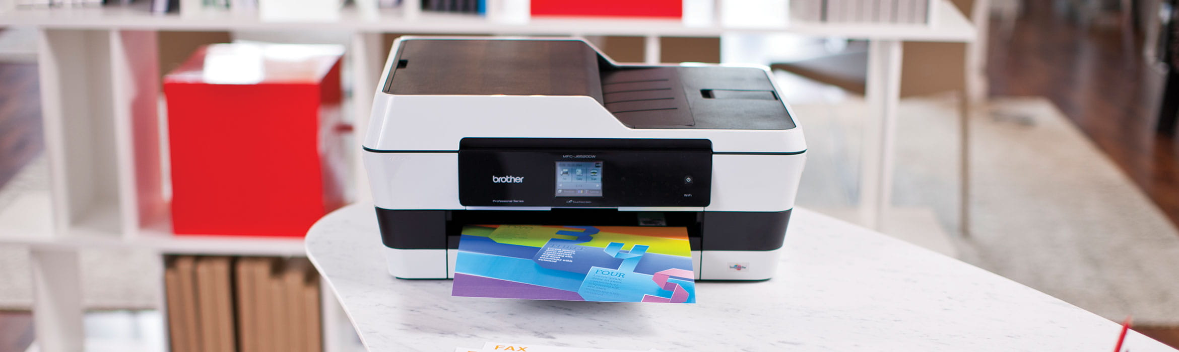 Brother A3 inkjet colour printer on desk