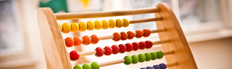 close up of an abacus