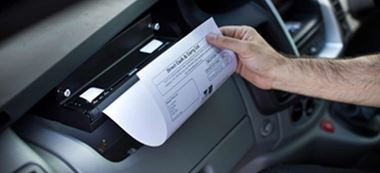 Mobile printer in vehicle - Brother UK