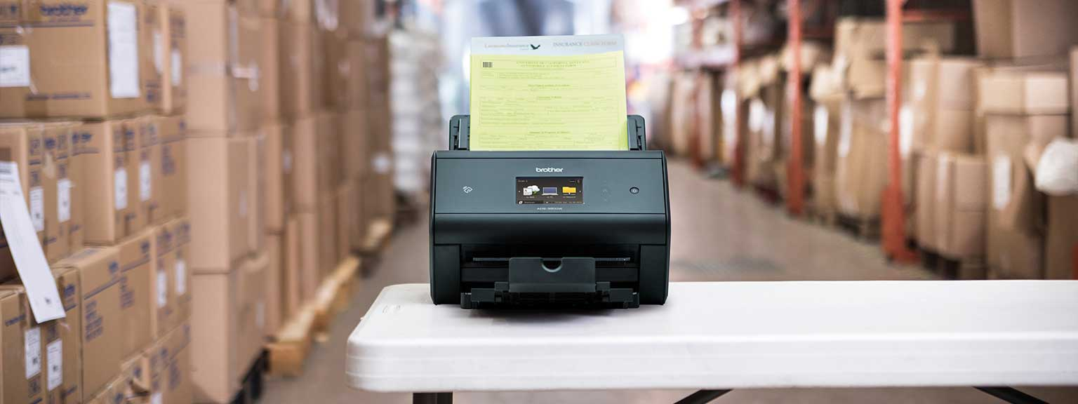 Brother scanner using barcode utility solution to automatically route documents to desired location