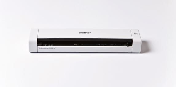 Brother portable scanner on a white background