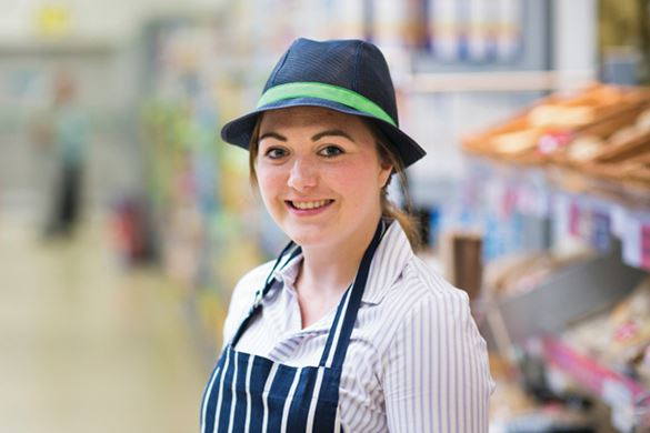 Lady on the shop floor