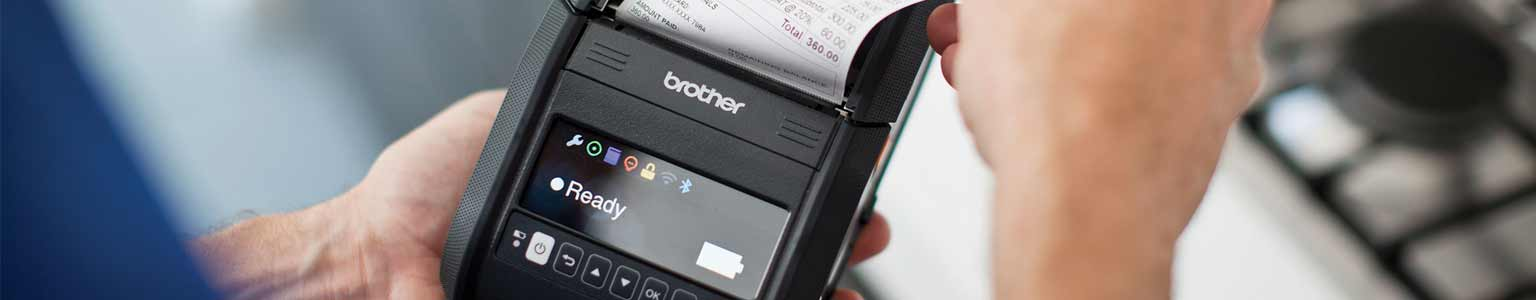 Brother's Rugged Jet mobile printer in use
