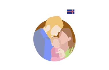 illustration of a mother and father with their child