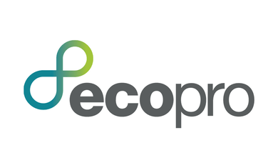 EcoPro logo on a white background