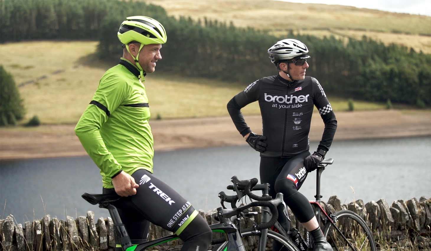James Golding and Phil Jones on Bikes