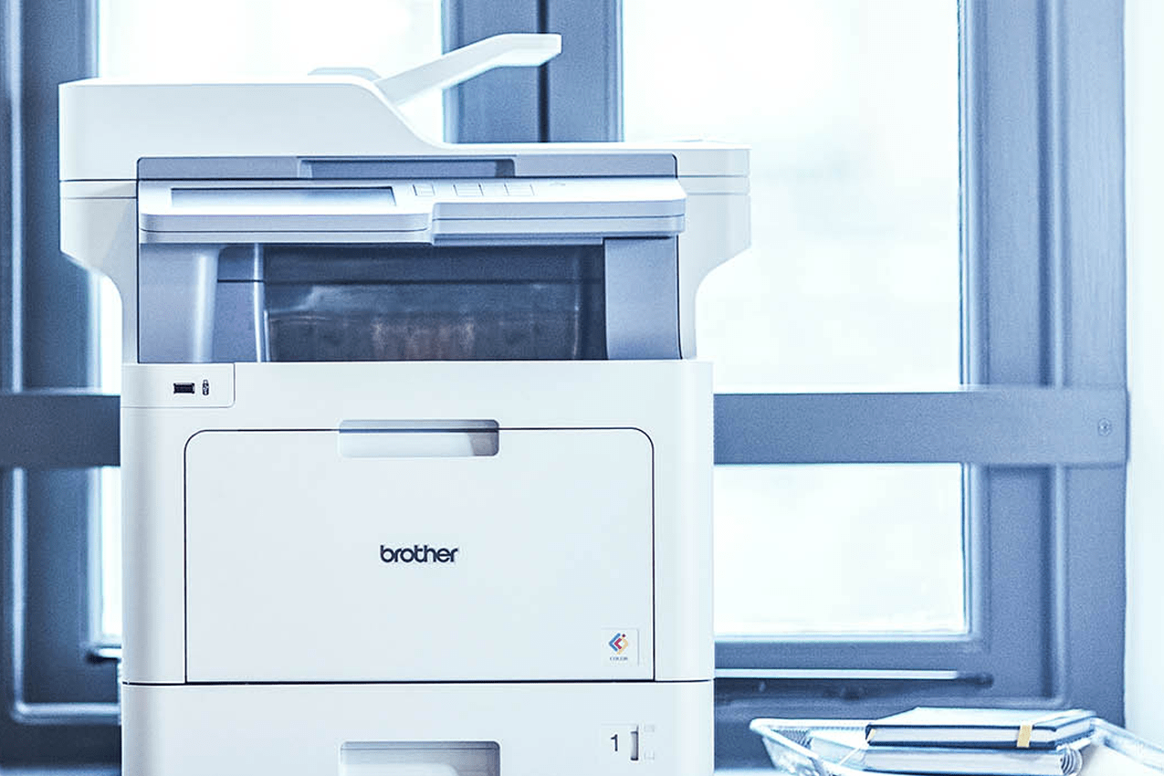 Brother printer in an office environment