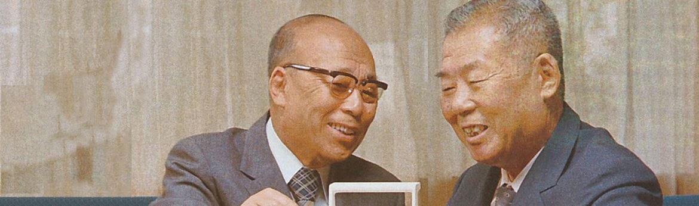 Twee pratende mannen