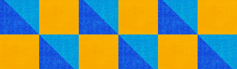 Motivo blu e giallo