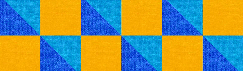 blaues und gelbes Muster