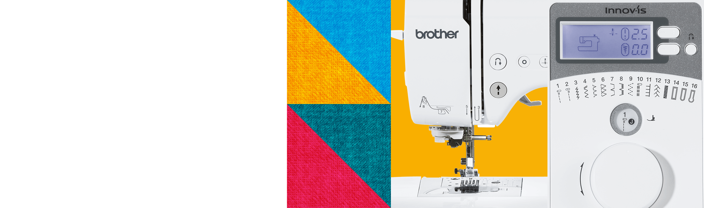 Close up shots of a brother sewing machine