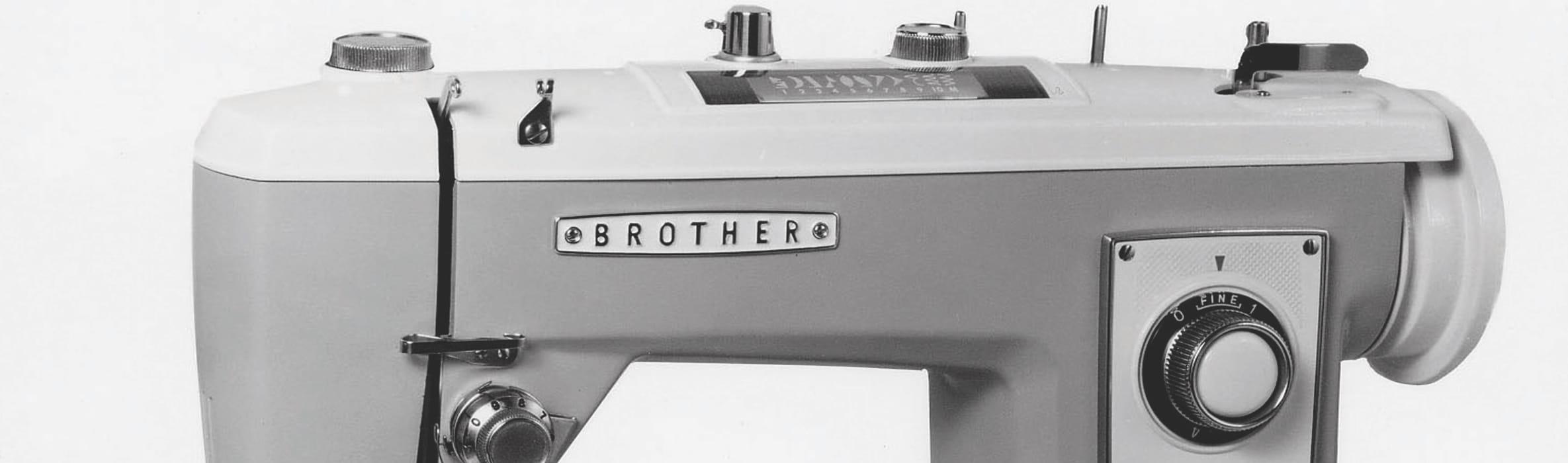 gros plan d'une machine à coudre brother