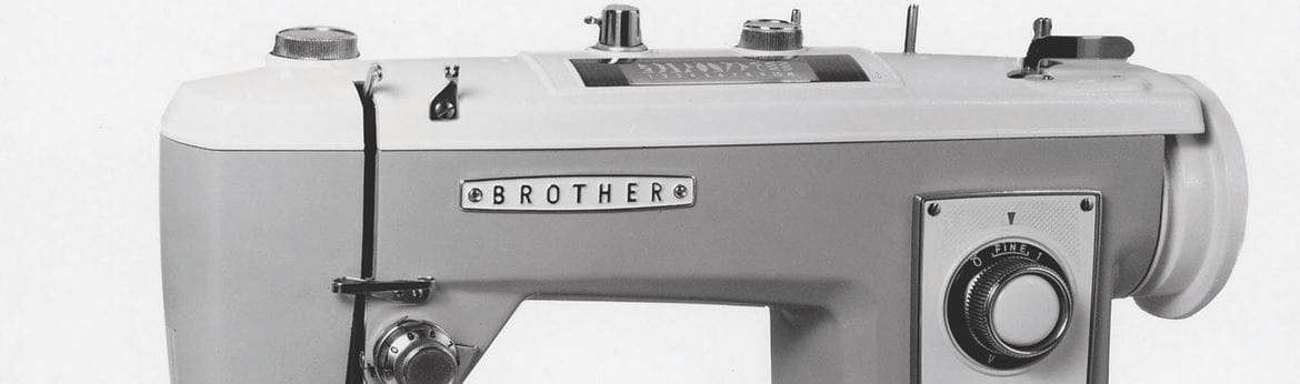 close up of a brother sewing machine