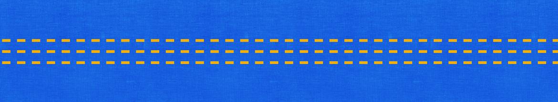 gelbes Muster auf blauem Hintergrund