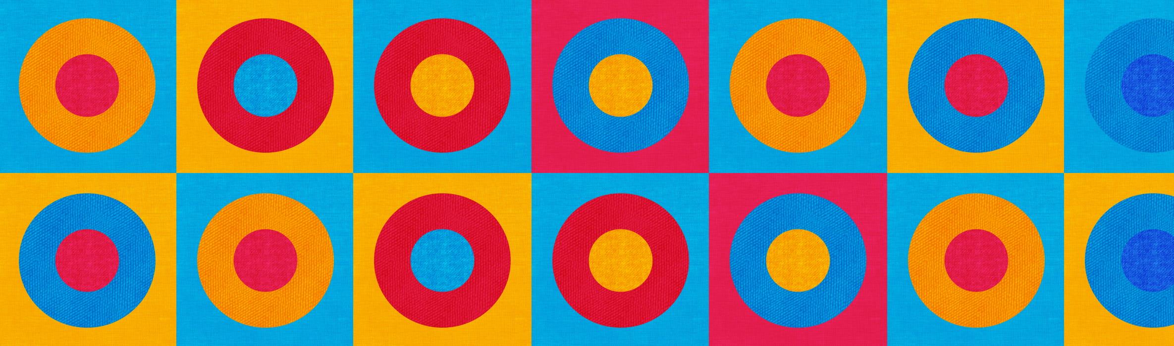Veelkleurig patroon