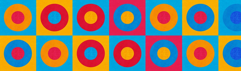 multicoloured pattern