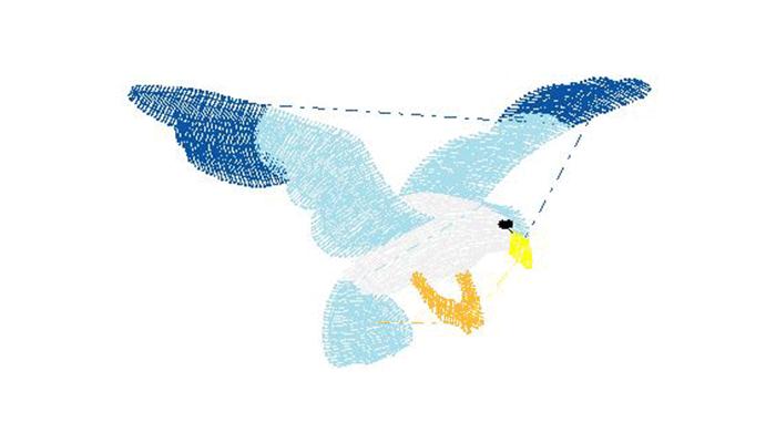 Вышивка птички