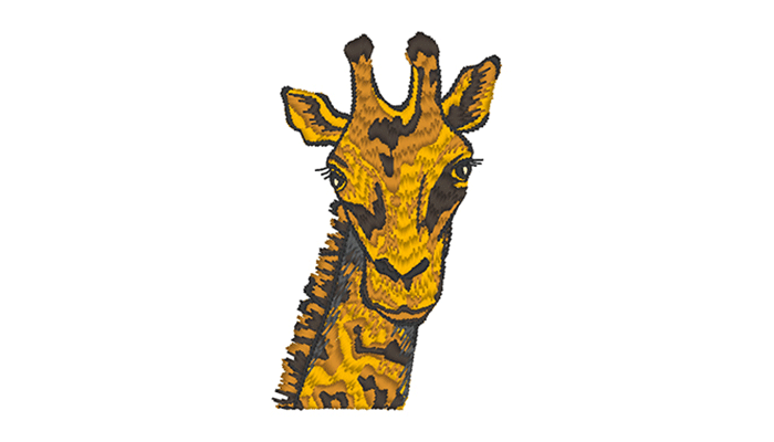 Giraffe head embroidery design