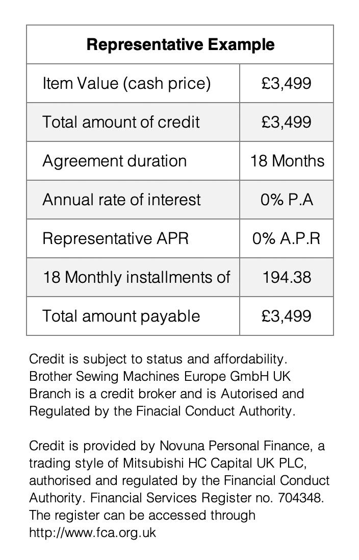 18 Month interest free credit