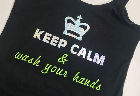 Keep calm and wash your hands tank top