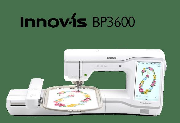 Innov-is BP3600 с вышивкой в пяльцах