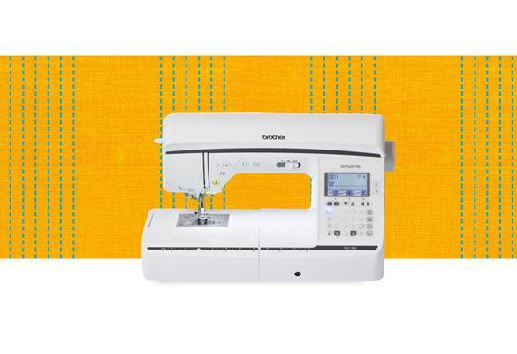 Швейная машина NV1300 на оранжевом фоне