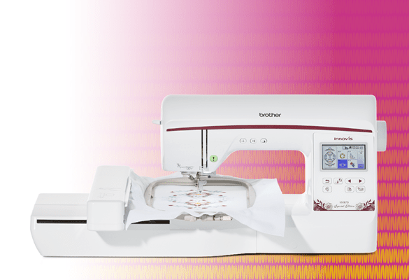 Brother NV870SE Embroidery machine on colorful background