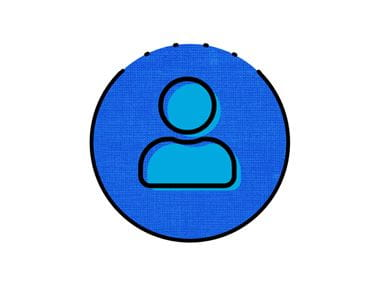 blaues Symbol für Person