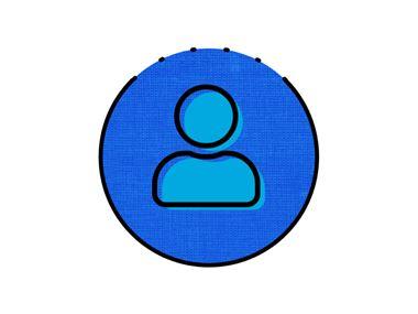 icône personne bleue