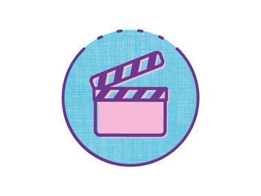 galleria video Icona sul cerchio blu