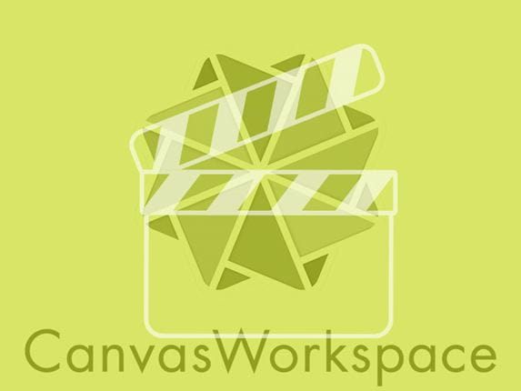 CanvasWorkspace logo with lime green overlay