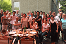 BSME colleagues at a BBQ.