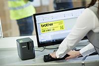 Brother PT-P950nw étiqueteuse avec logiciel de conception d'étiquettes P-Touch Editor