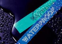 Waterproof, laminated P-touch TZe labels