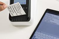 Tisk štítku z tabletu na QL-820NWB