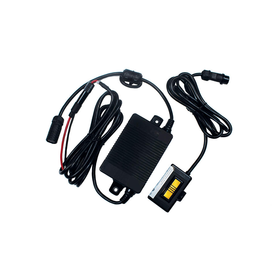Wired connection battery eliminator kit white background