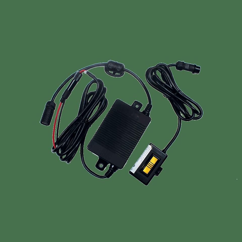 Sada eliminátoru bateriového připojení na bílém pozadí