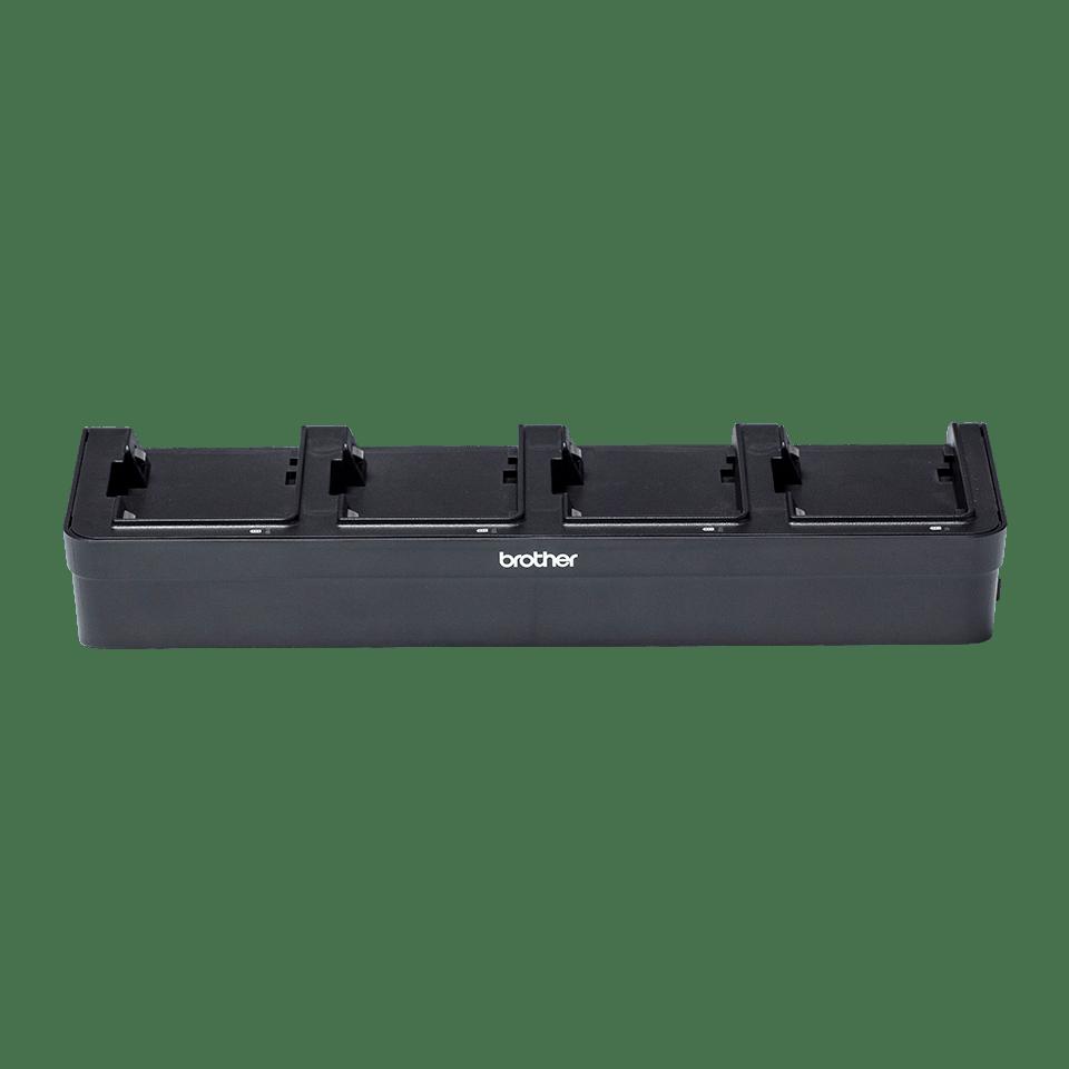 PA4BC001-Polnilnik za baterijo s štirimi postajami-prozorno ozadje-spredaj