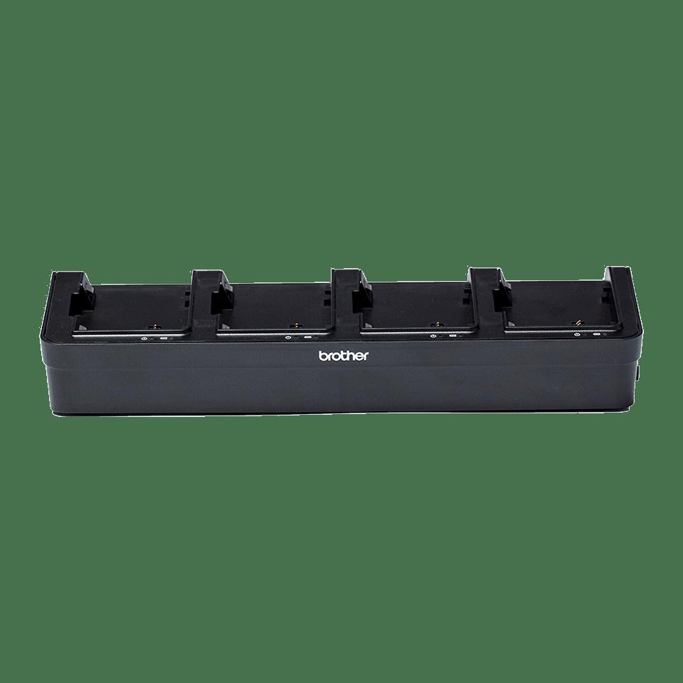 PA4BC002-punjač za bateriju s četiri postaje-prozirna pozadina-sprijeda