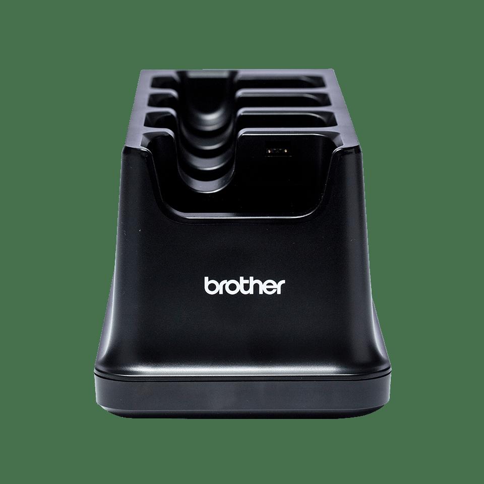 PA4CR001-punjač/nosač za bateriju s četiri postaje-prozirna pozadina-sprijeda