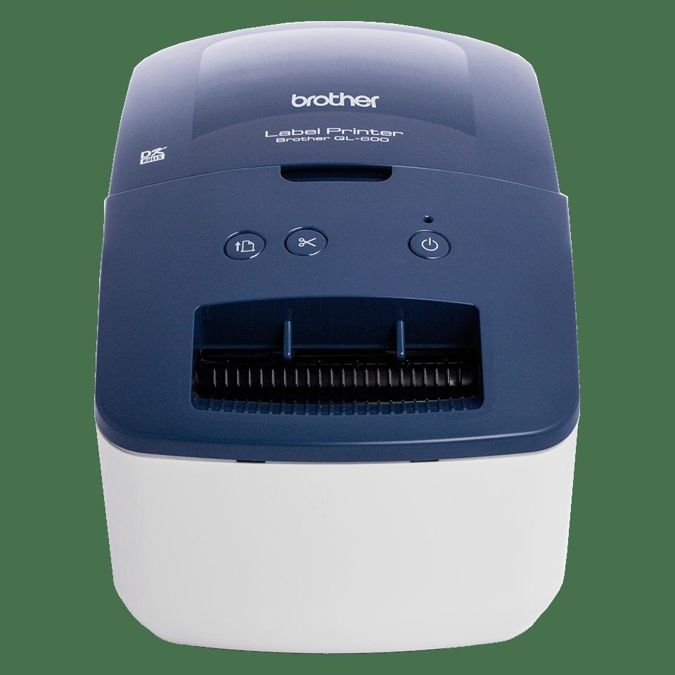 Brother QL-600B label printer front-on shot