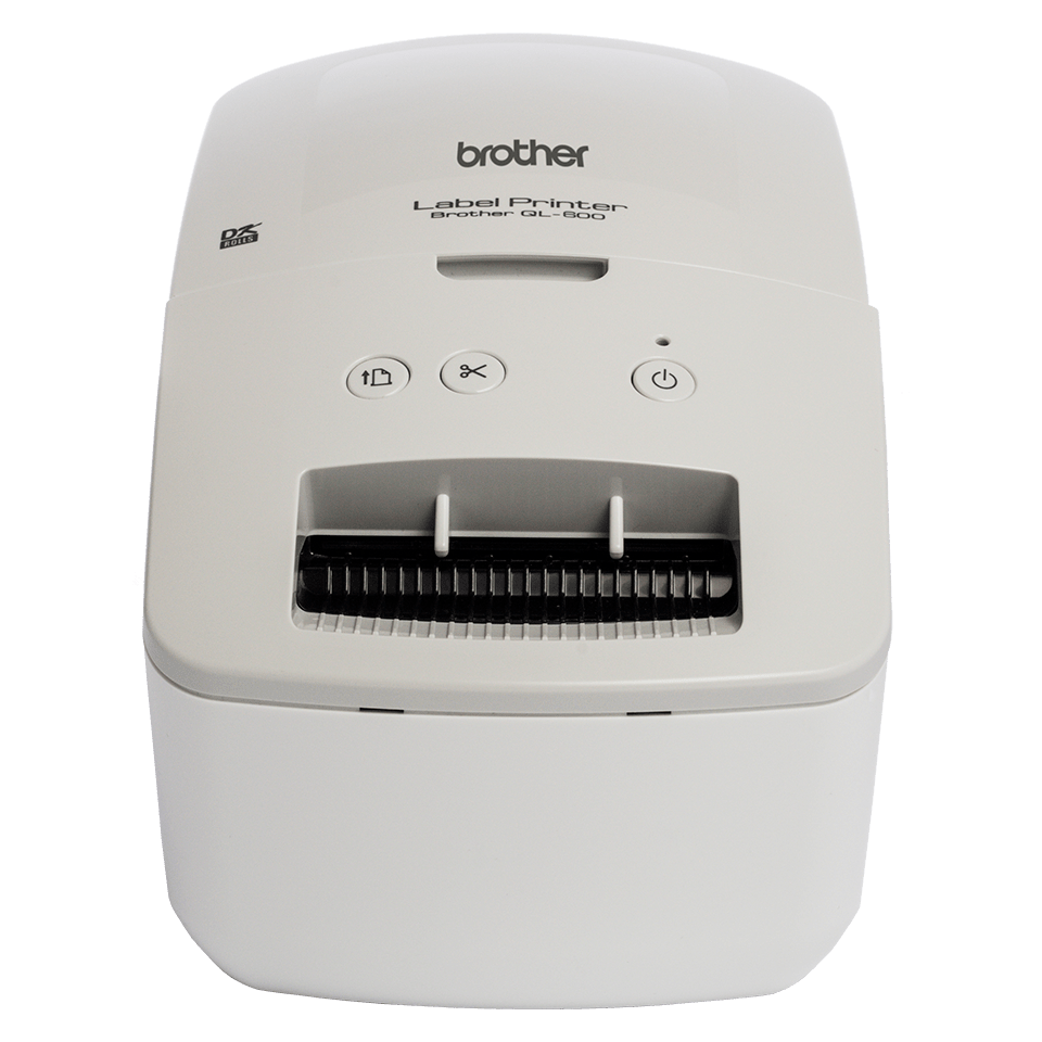 Brother QL-600G address label printer - front angle